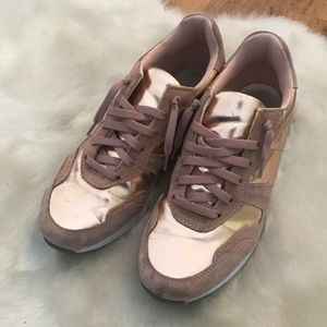 Topshop Rose Gold Sneakers size 38 8